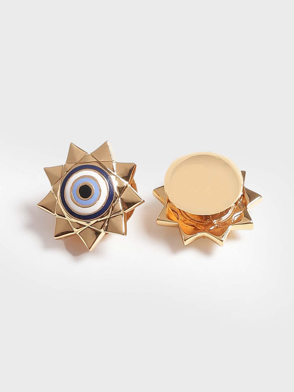 Evil eye cuff links