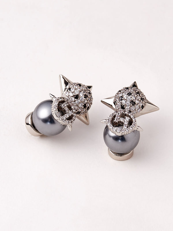 Silver earrings studs online