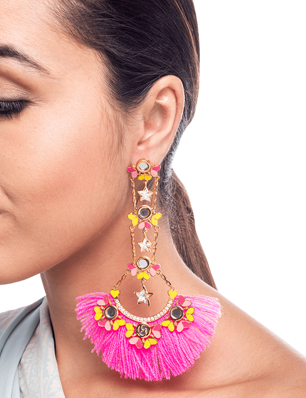 Flower & Faith Tassel Earrings