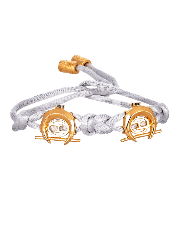 White and gold bracelet for men and women