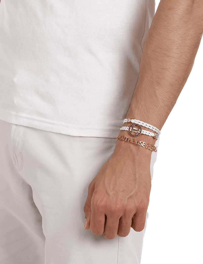 White Men Designer Bracelets