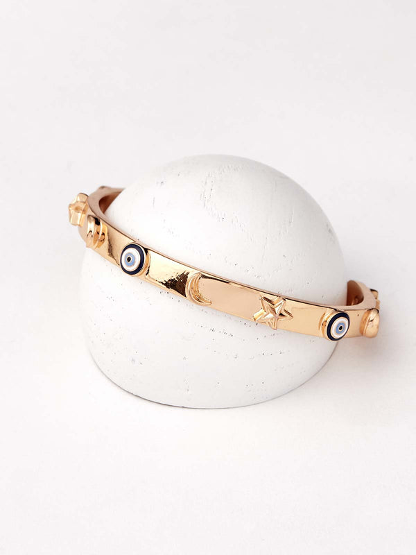 Evil eye bracelets in gold