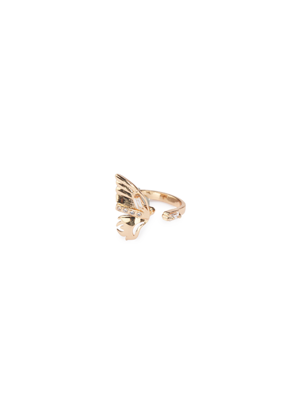 Gold plated midi rings for women