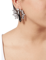 Gunmetal designer earrings for women
