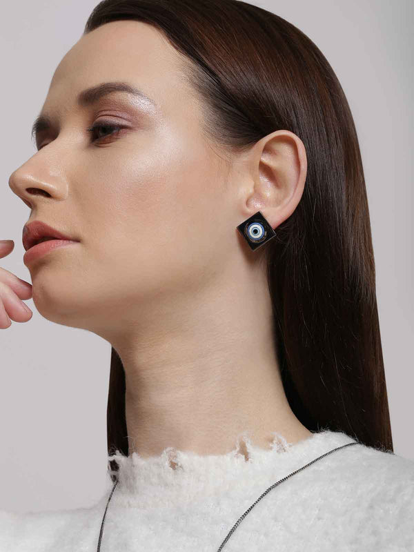 Gunmetal studs earrings