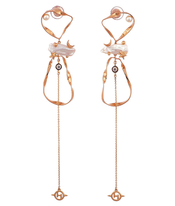 Long dangler earrings