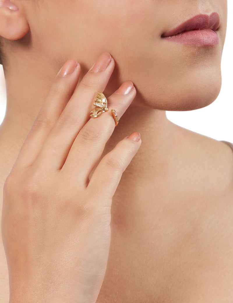 midi ring gold plated