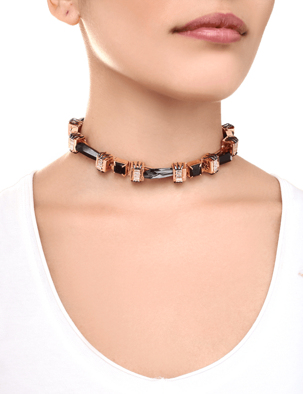 Rose gold designer choker necklaces