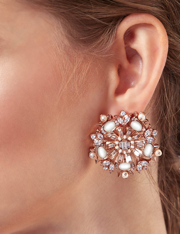 Rose gold earrings for women online