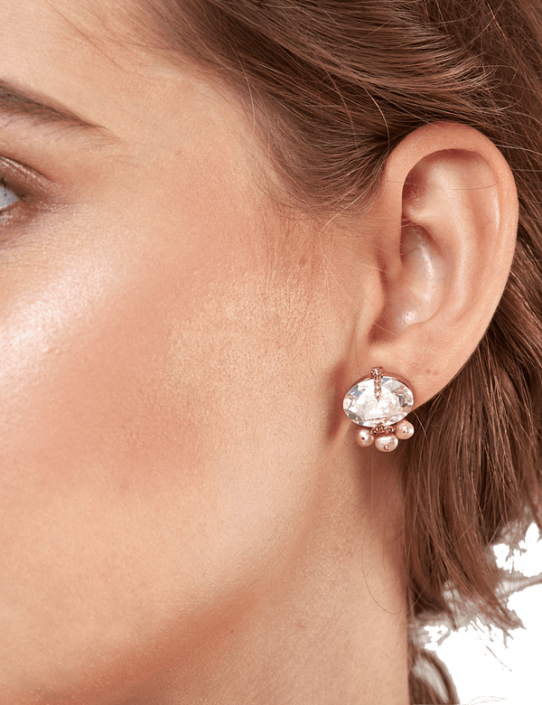 Rose gold fashion earrings online