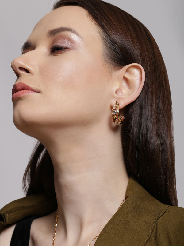 Rose gold hoop earrings online