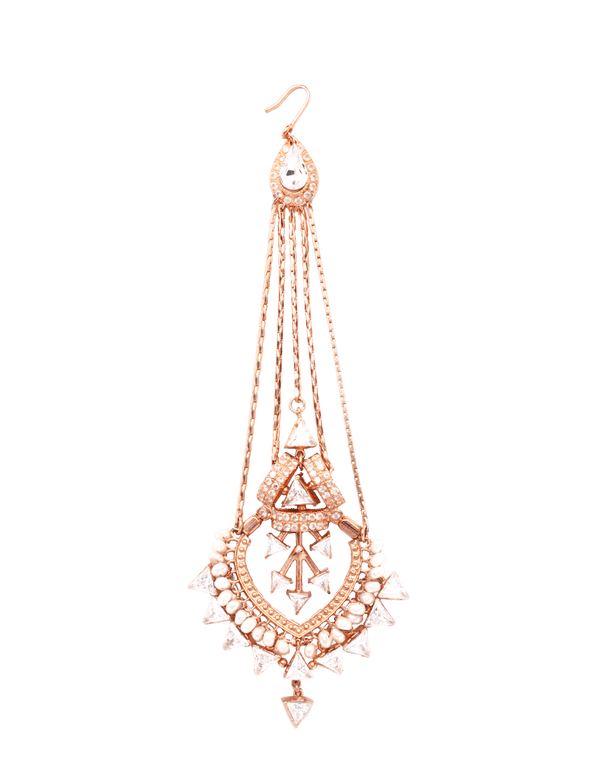 Rose gold maang tikka for women