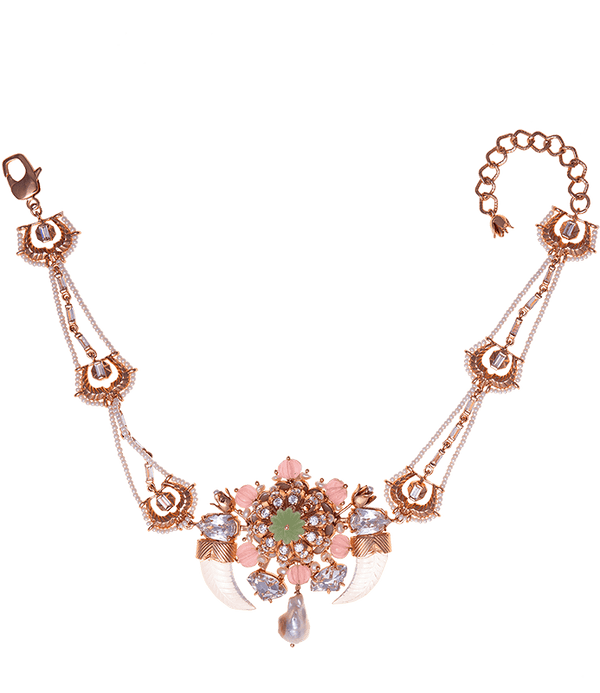 Rose gold plated choker for women