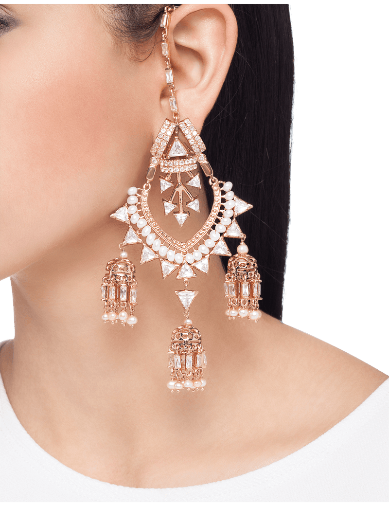 Rose gold sahara earrings for women