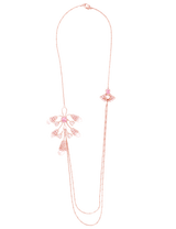 Women's rose gold necklace with pearls