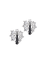 Women's stud earrings in gunmetal