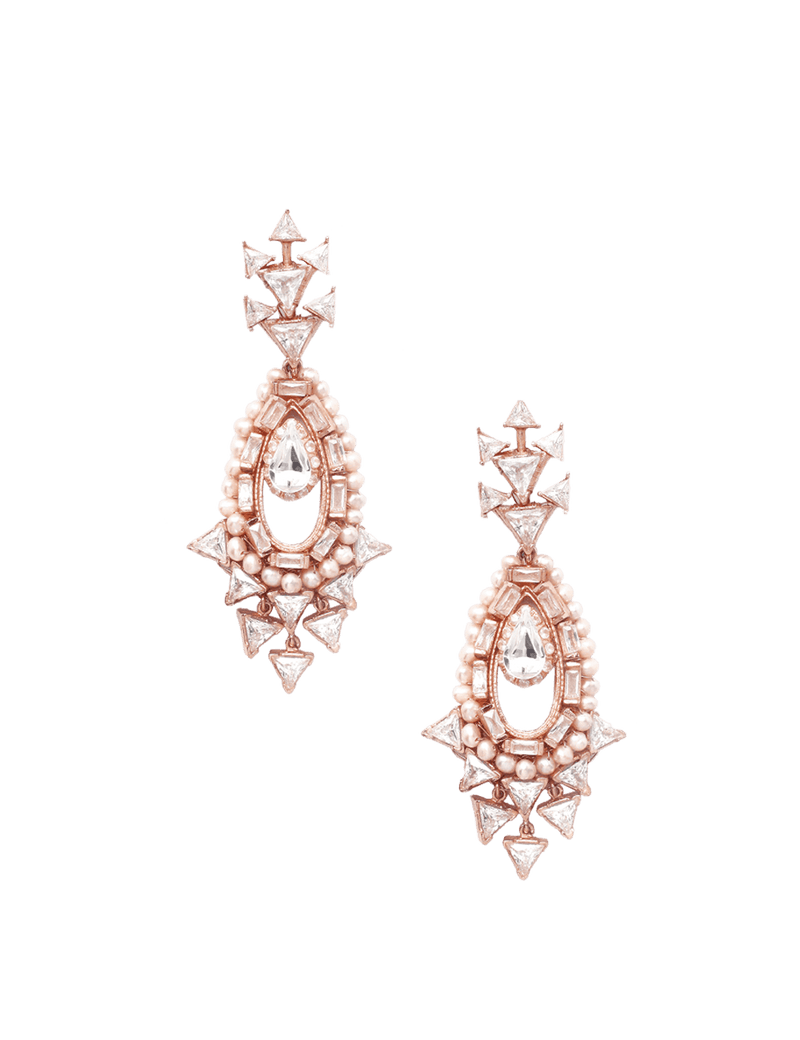 Women's designer earrings with swarovski stones