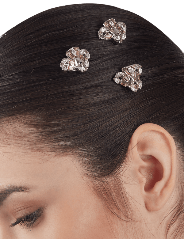 Women's hair clips with crystals