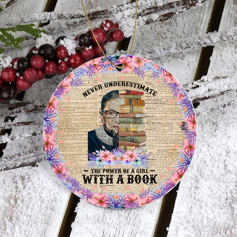 RBG With Book Ornament