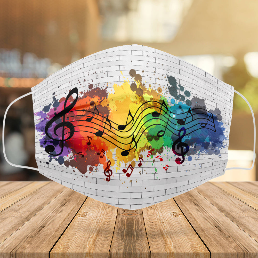 Artistic Music Notes Mask
