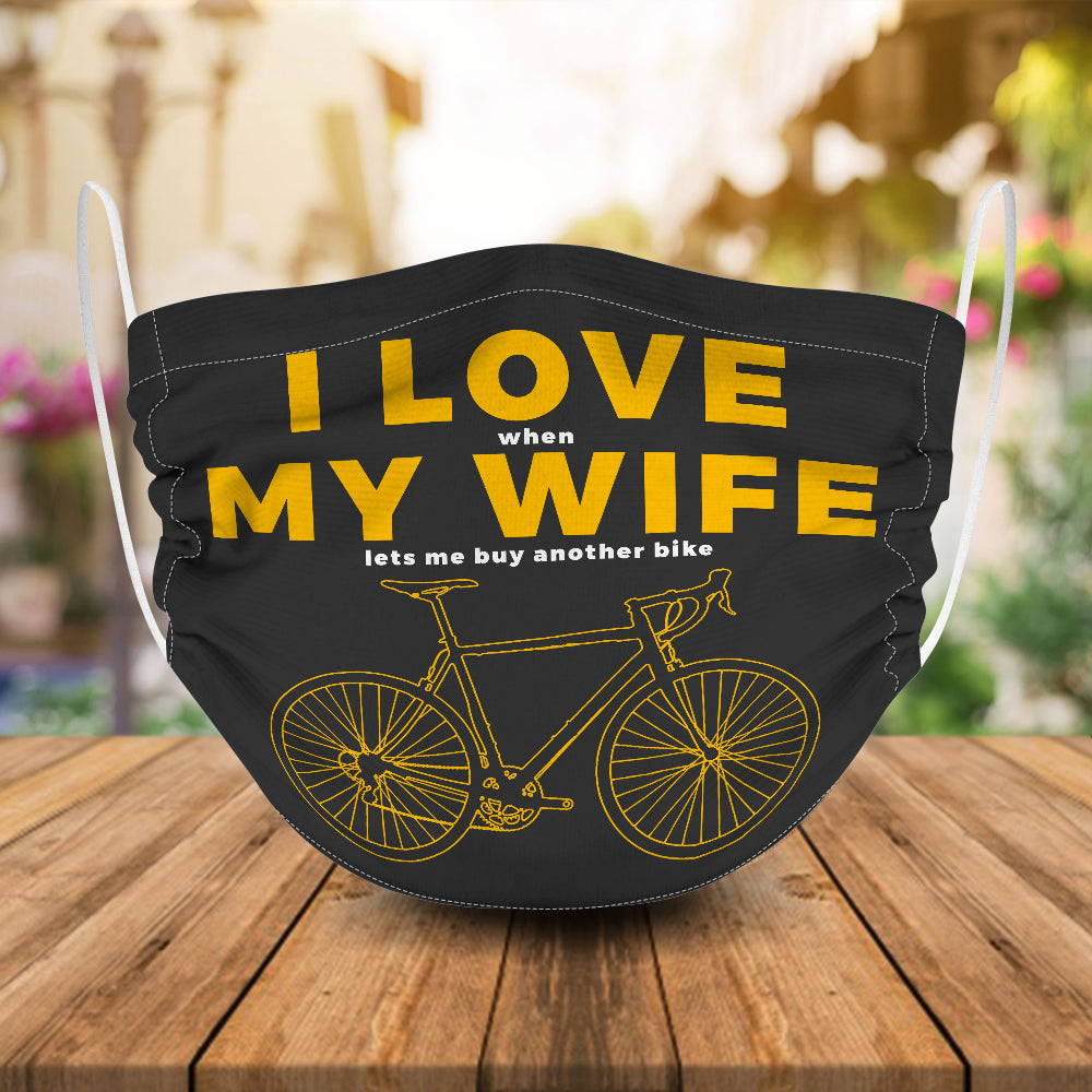 I Love My Wife Cycling Mask