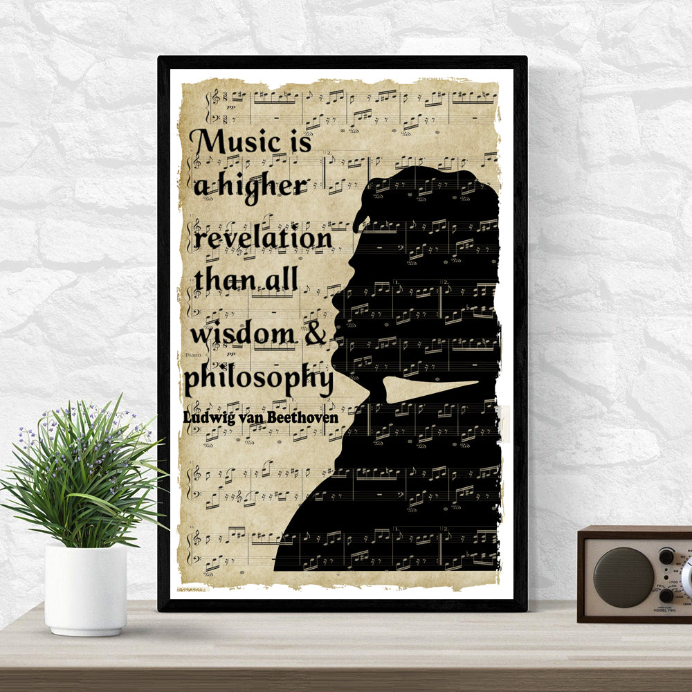 Beethoven Quote Art Poster