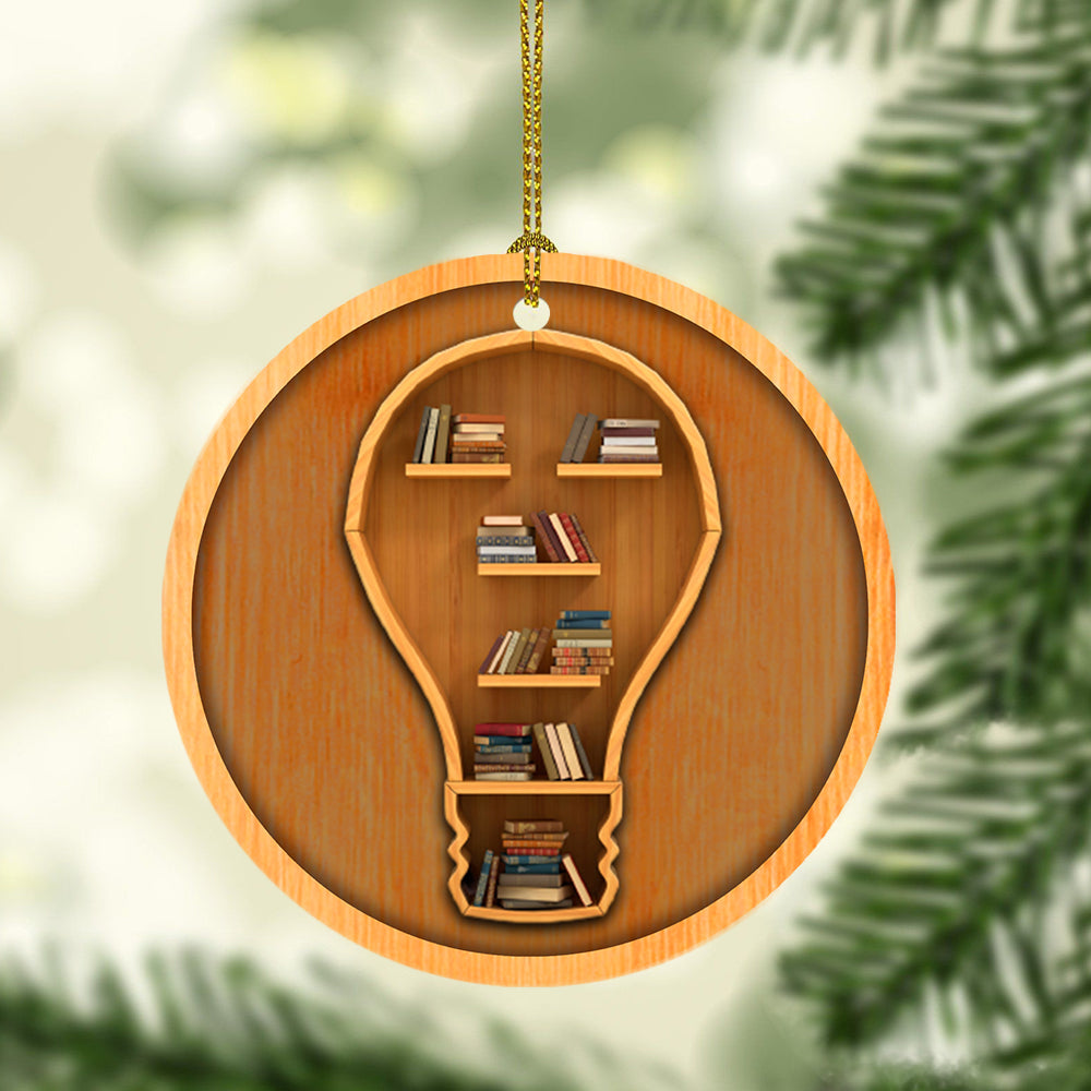Idea Bookshelf Christmas Ornament