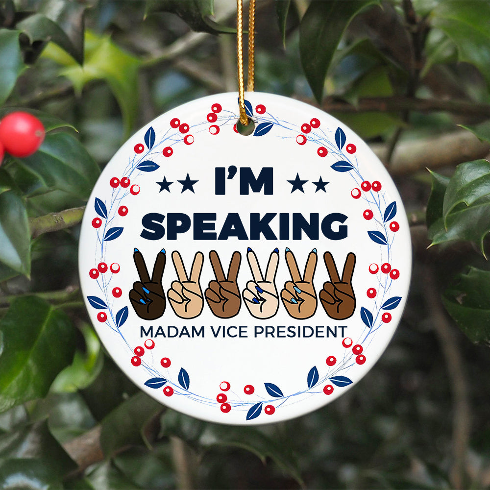 BH Speaking Floral Ornament