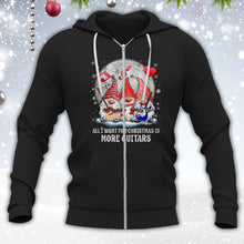 Load image into Gallery viewer, Gnomes Want More Guitars For Christmas Shirt
