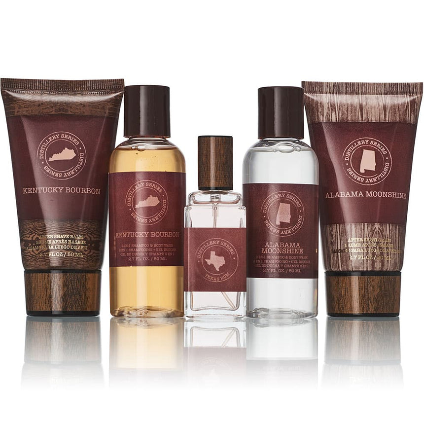 Alabama Moonshine/ Kentucky Bourbon 5-pc Bath and Body Gift Set