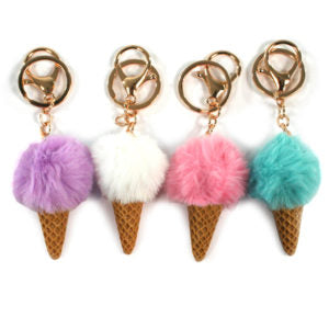 Keyrings - Ice Cream Cones - Assorted Colours