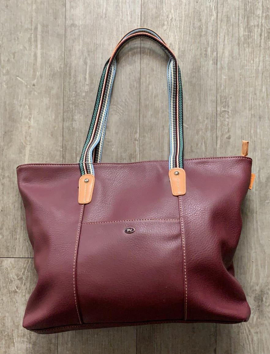 David Jones Large Tote with Contrast Material Handle