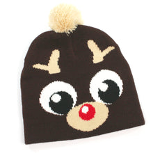 Load image into Gallery viewer, Childrens Pom Pom Hats - Assorted Chrsitmas Designs