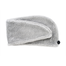Load image into Gallery viewer, Turban Hair Towel - Light Grey