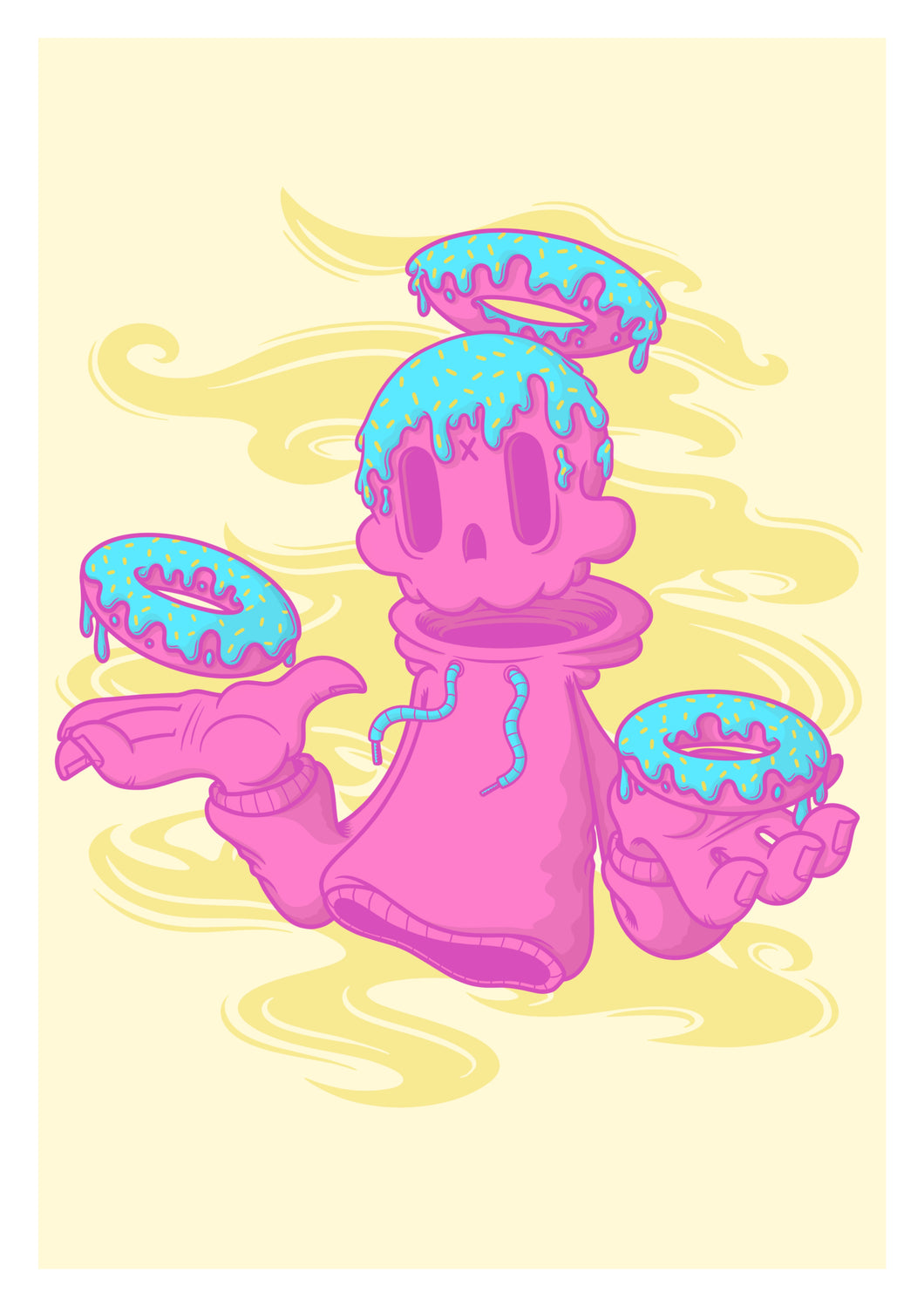 DEATH OR DONUTS PRINT