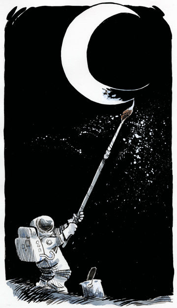 Painting the Moon — Art Print