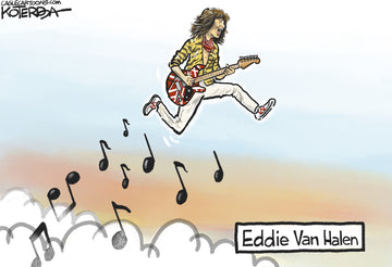 Eddie Van Halen — Cartoon Print