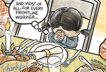 Thankful for Frontline Workers — Cartoon Print