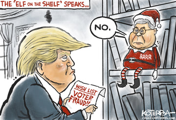 Trump's Elf on a Shelf — Cartoon Print
