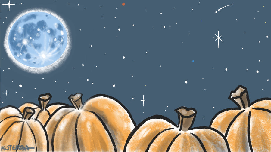 Blue Moon Halloween — Art Print