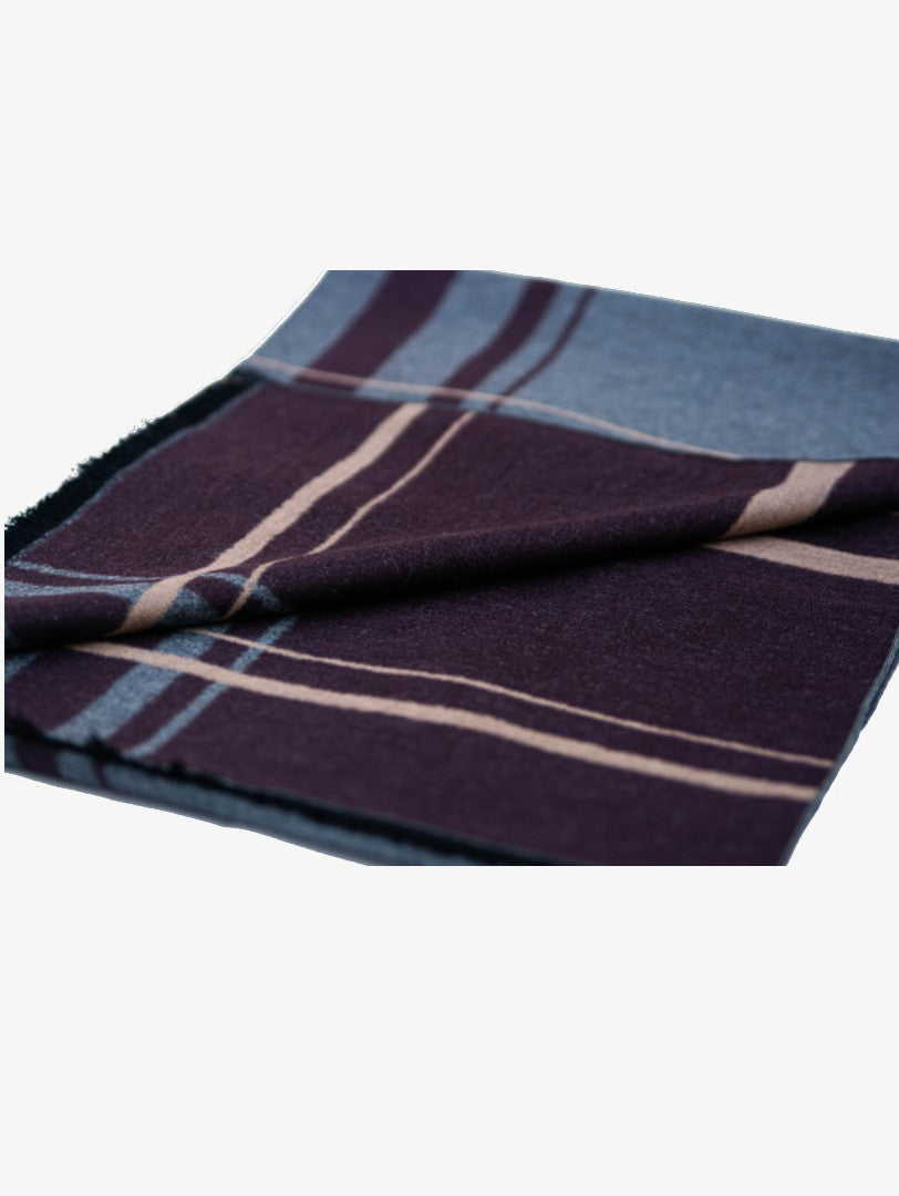 Foulard en soie marron mix-double faces