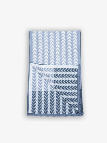 Silk scarf with white stripes