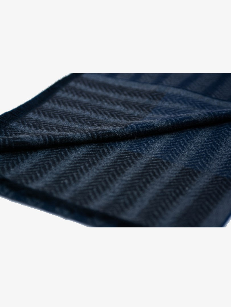 Silk scarf with black stripes