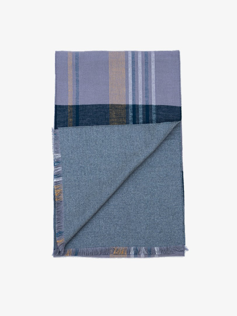 Rust blue silk scarf