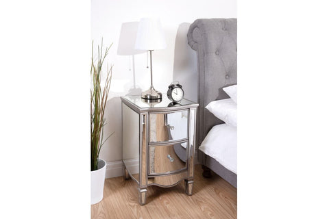 Elysee 2 Drawer Bedside Table