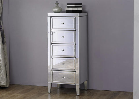 Valencia 5 Drawer Narrow Chest Of Drawers