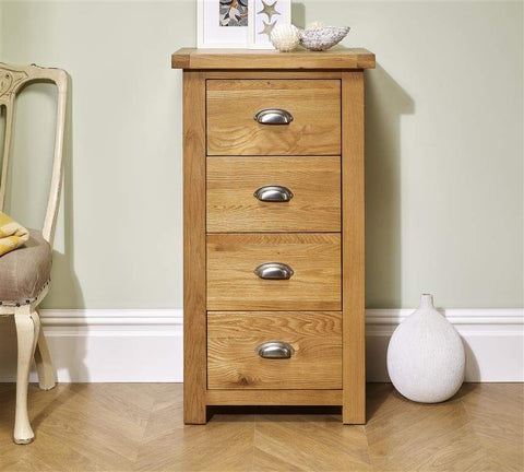 Woburn 4 Drawer Narrow Chest Of Drawers