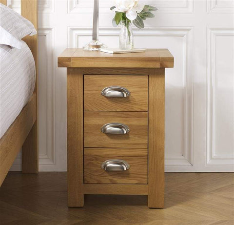 Woburn Small 3 Drawer Bedside Table