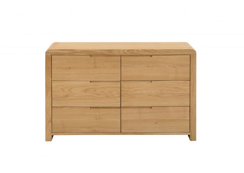 Curve 6 Drawer Wide Chest Of Drawers