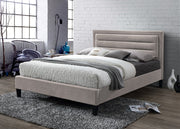 LB54 Upholstered Bed Frame In Mink or Grey